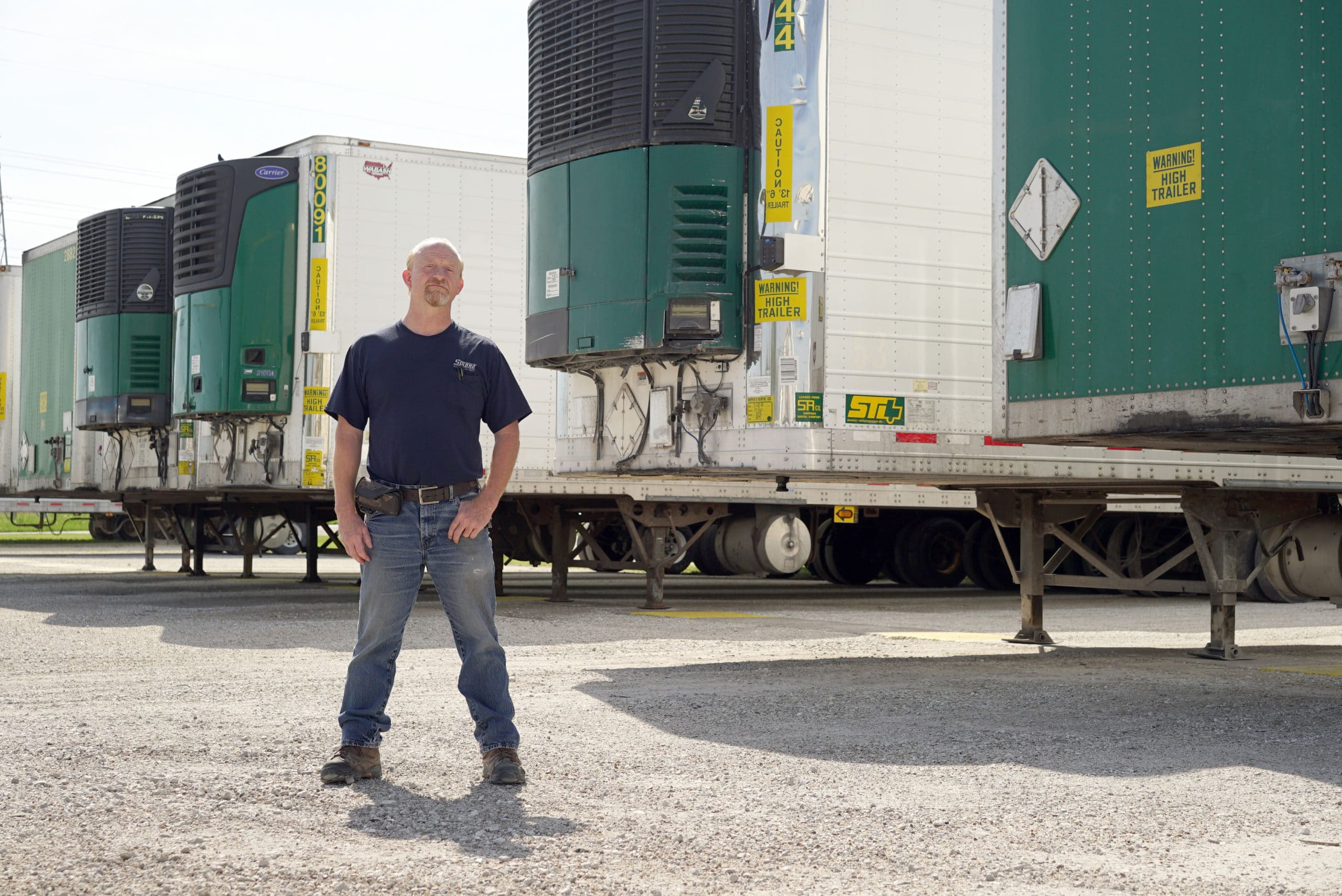 Sisbro truck driver with the trailers