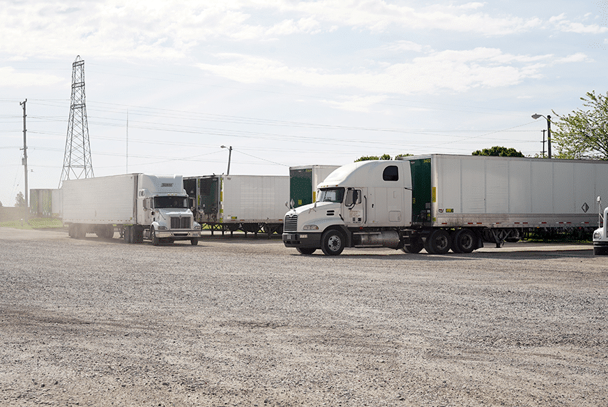 Sisbro trucks at the terminal