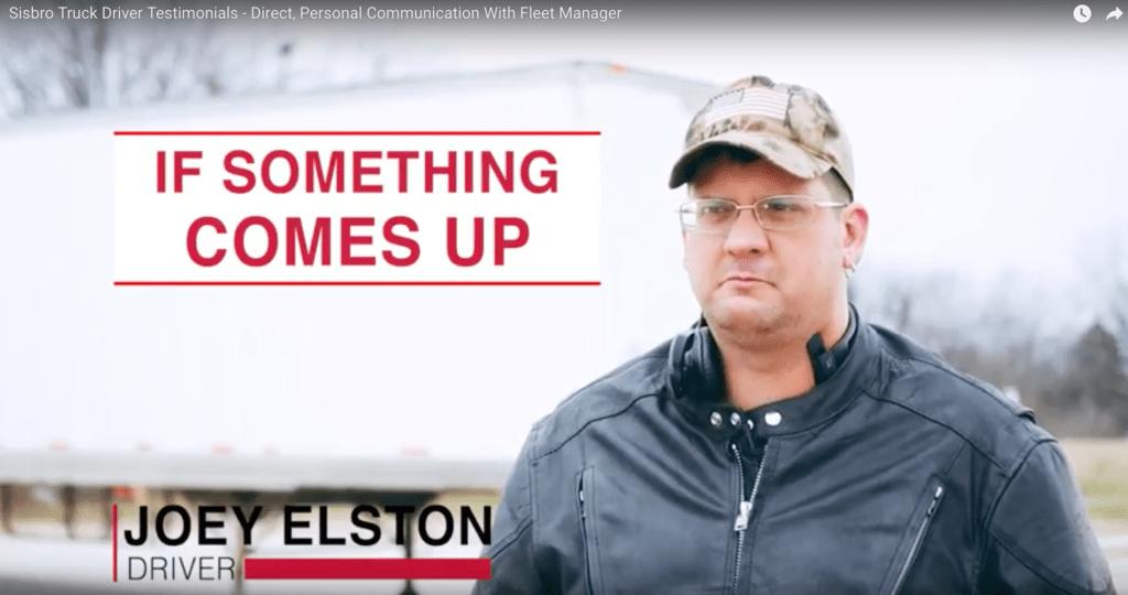 Joey Elston-Sisbro Truck Driver