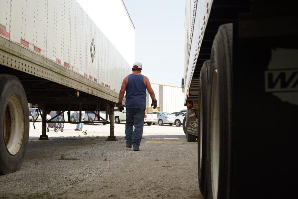 Sisbro truck driver walking