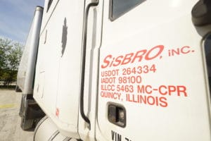 Side of a Sisbro truck