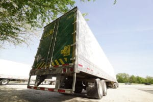 back of semi truck