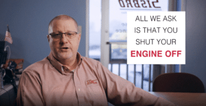 shut off engine