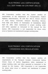 Electronic Log Certification