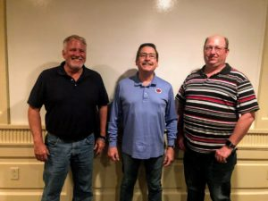 Sisbro General Manager Glenn Bemis, Executive Vice President Mid-West Truckers Association Brent Schaefer, and Sisbro Safety Manager Glenn Meyers attending MTA's Western Advisory Board Meeting at Tower of Pizza in Quincy, IL May 27, 2021.
